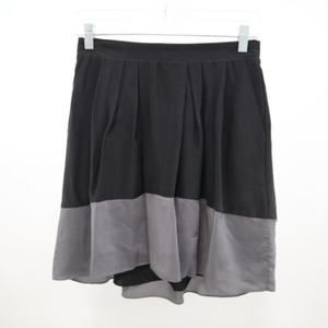 Madewell A-Line Skirt XS Gray Silk Blend Pleated